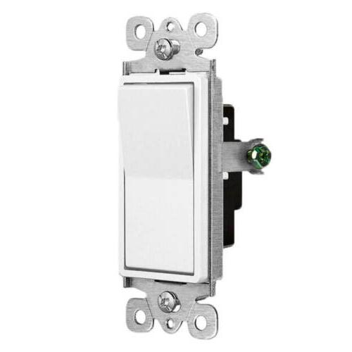 10PK Decorator Rocker In Wall Paddle Switch Replacement 15A Single Pole UL
