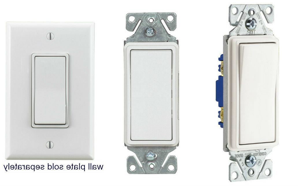 Eaton 15-amp White Indoor Light Wall Switch