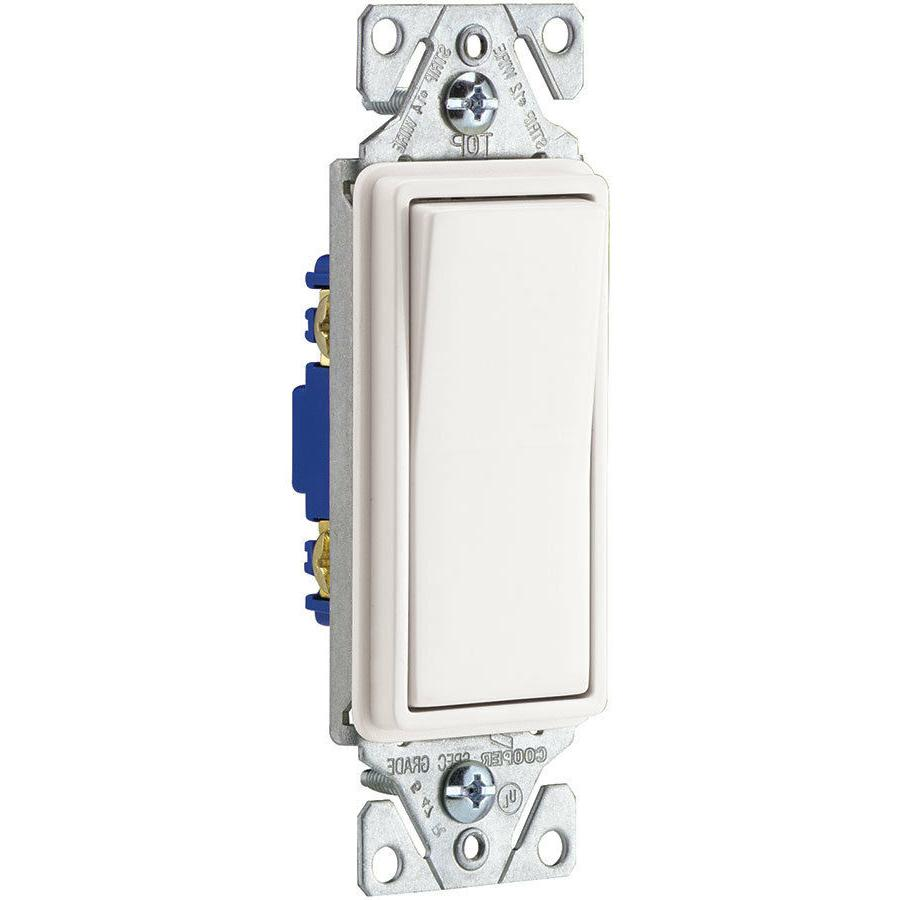 Eaton 15-amp White Indoor Light Wall Switch Durable