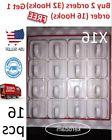 16 X Small Self Adhesive Plastic Square Hooks Wall Mount Han