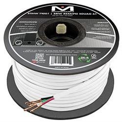 16AWG 4-Conductor Speaker Wire  by Mediabridge - 99.9% Oxyge