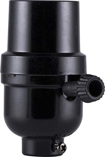 GE Socket, for Low, Medium High and Table DIY Project, Black, 18275