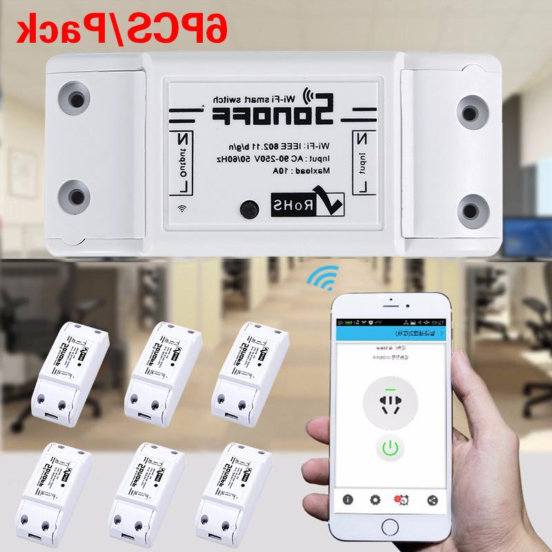 1PCS <font><b>Sonoff</b></font> Wifi <font><b>Switch</b></font> Wireless Domotica Automation Controller Work with