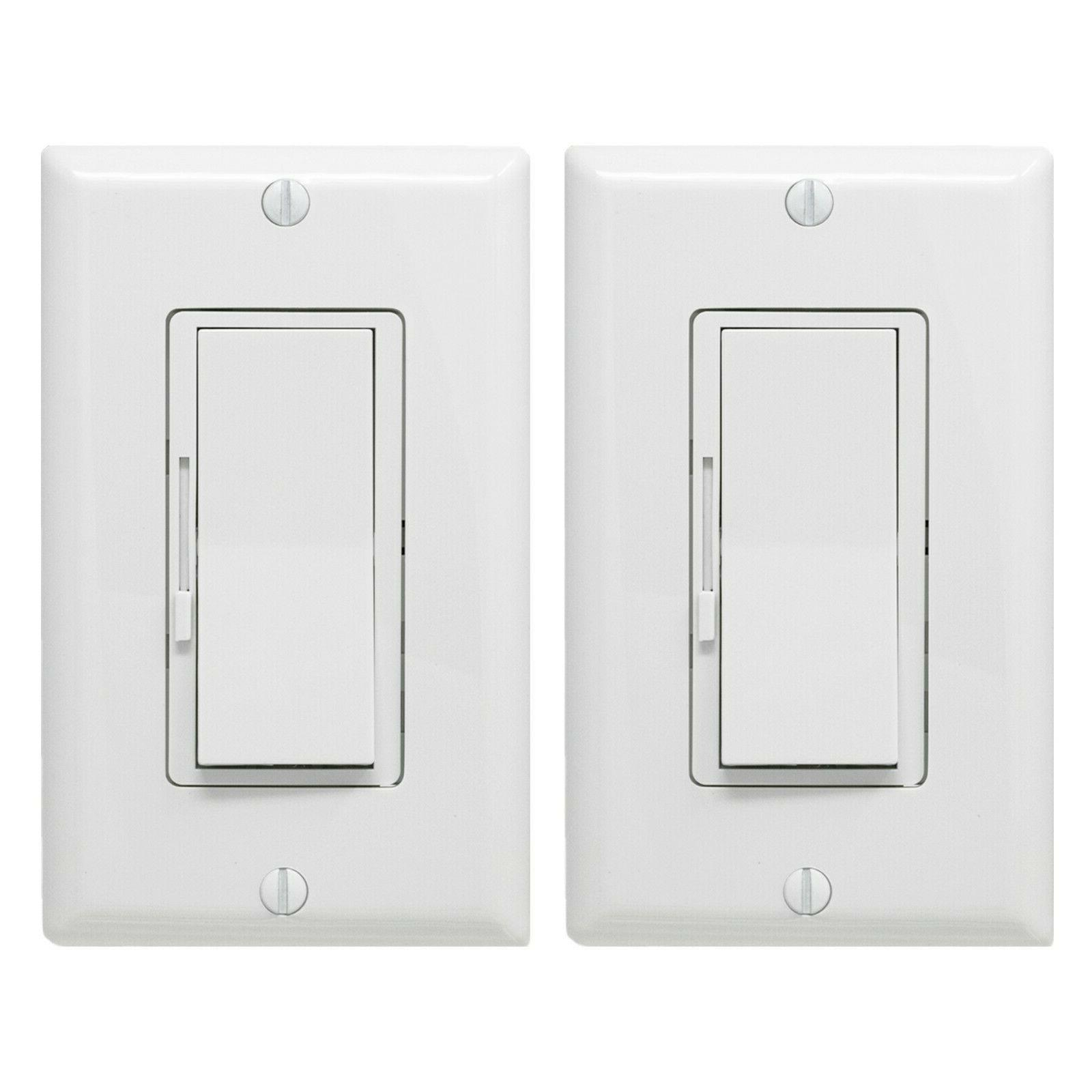 2 pack dimmer light switch single pole