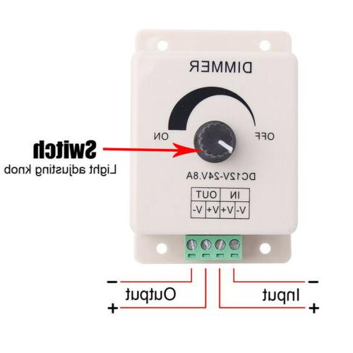 NEW Manual Dimmer for 12V with Terminals