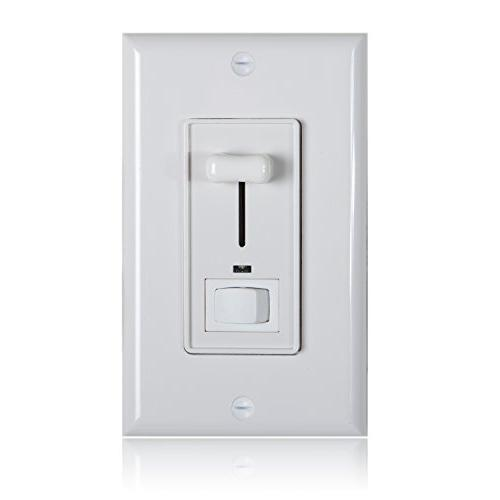 Maxxima 3-Way/Single Pole Dimmer Electrical Light With Blue Light 600 Watt max, Wall Plate Included