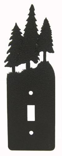 3 Pine Trees Single Light Switch Plate Cover