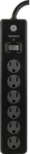 GE 33661 Surge Protector, Outlet 800J 6' Cord Safety Covers,