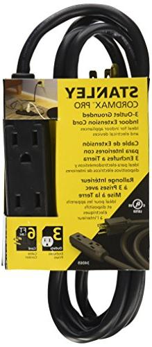 Stanley 34069 Cord Max Pro 6-Feet 3-Outlet Indoor Extension