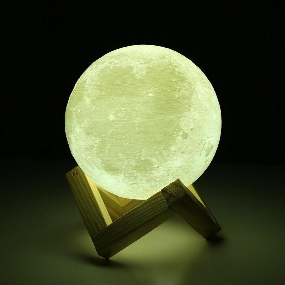 3d Lights Moon Lamp Touch Switch Moon Light Bedroom Led Nigh