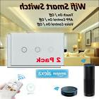 2pack 3Gang Wifi Smart Wall Light Switch Touch Panel Remote
