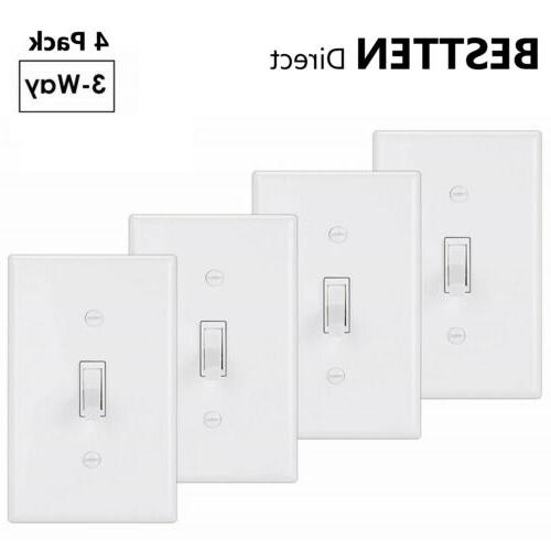 4pk ul 3 way toggle light switch