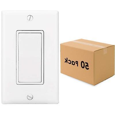 50 pack wholesale 1 way light switch