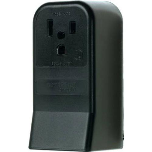 Pass & Seymour #3852CC6 50A Black 2P Surface Outlet