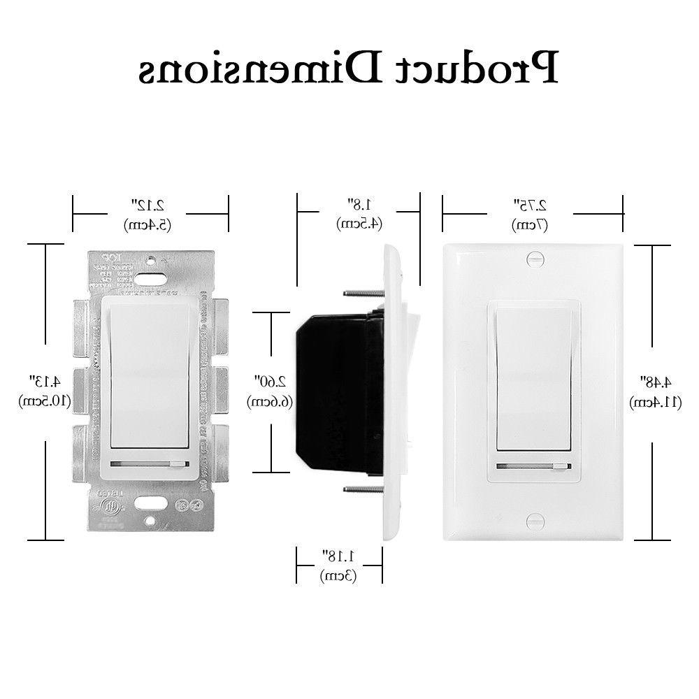 10 150W and CFL/600W Wall Light Slide Switch
