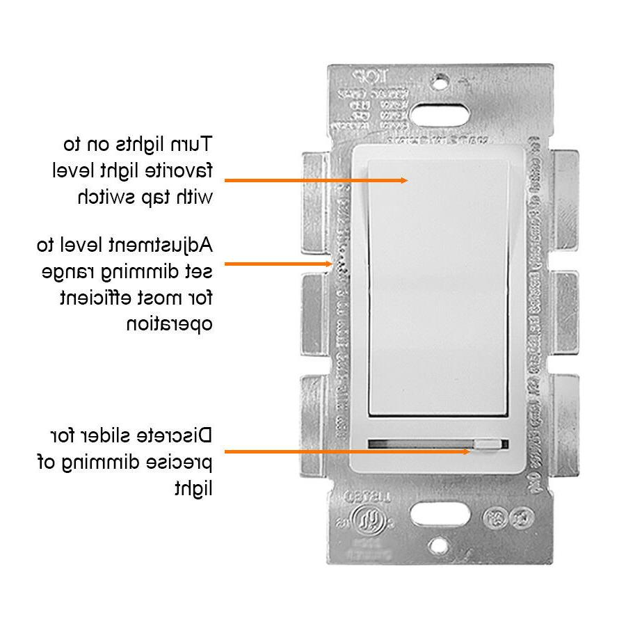 10 150W and CFL/600W Light Dimmer Switch