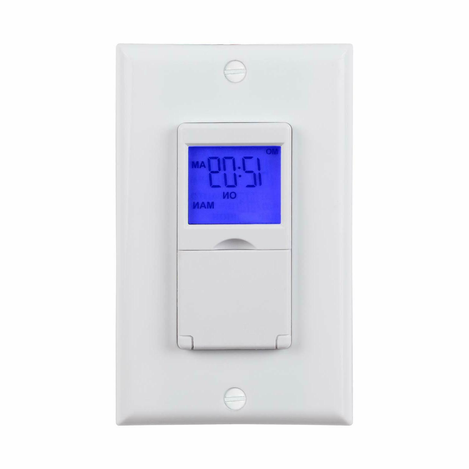 BN-LINK 7 Day Programmable Timer Switch, Single or 3 Way, bl