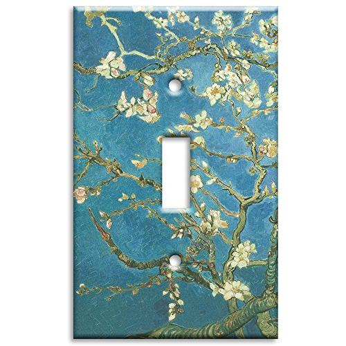 Art Plates - Van Gogh: Almond Blossoms Switch Plate - Single
