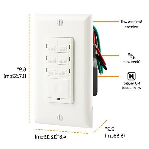 GE Push Button In-Wall Digital Countdown Timer Switch,
