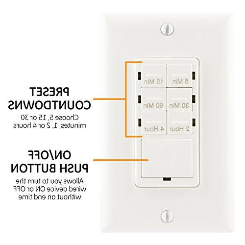 ge push button in wall digital countdown timer switch. Black Bedroom Furniture Sets. Home Design Ideas
