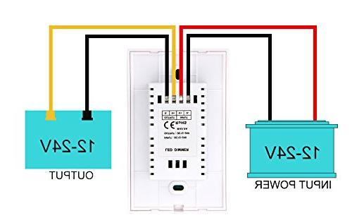 Wall-mounted LED Switch Controller Single Color Light