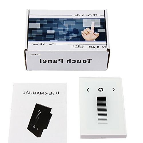 Wall-mounted Glass LED Controller for