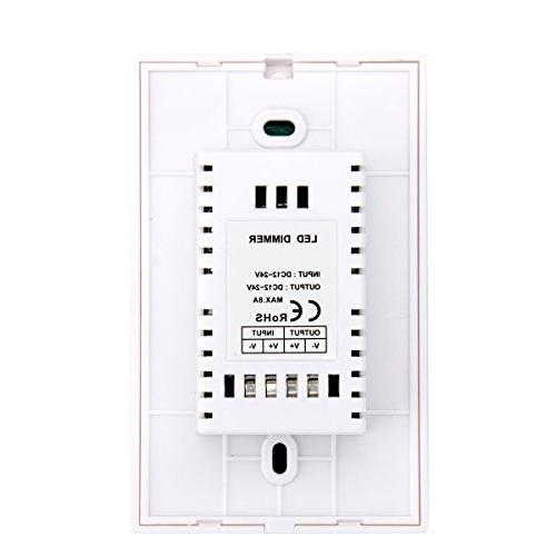 Wall-mounted LED Controller 12-24V Single Color LED Strip Light Lamp-White