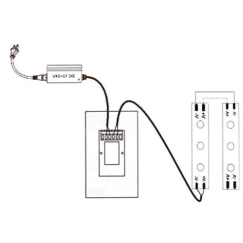 Wall-mounted Touch Panel LED Switch Controller Single Light Lamp-White
