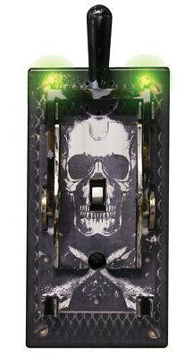 Animated Electric Light Switch Cover Halloween Prop Haunted
