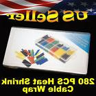 BRAND NEW 280PCS Assorted 2:1 Heat Shrink Cable Wrap Tubing