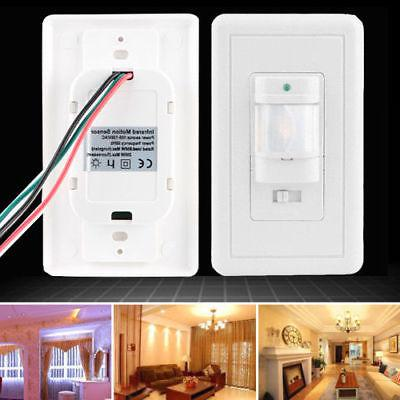 Auto On/Off Infrared PIR Occupancy Vacancy Motion Sensor Lig
