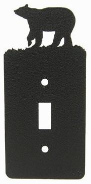 Innovative Fabricators, Inc. Bear Single Light Switch Plate