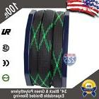 """100 FT 3/4"""" Black Green Expandable Wire Sleeving Sheathing B"""