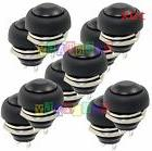 Black 10X Pcs M4 12mm Waterproof Momentary ON/OFF Push Butto