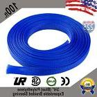 """100 FT 3/4"""" Blue Expandable Wire Cable Sleeving Sheathing Br"""