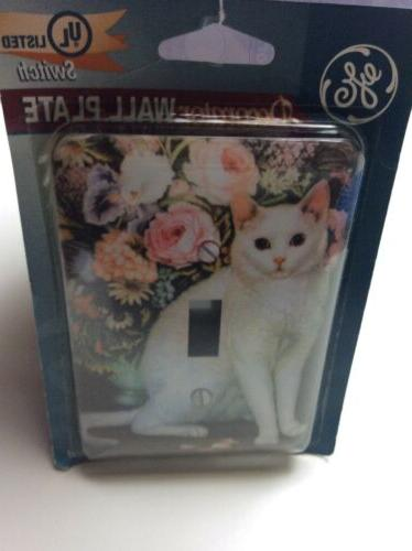 White Cat Wall Cover Plate