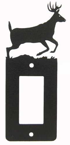 Buck Deer GFI Rocker Light Switch Plate Cover