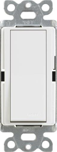 Lutron Claro On/Off Switch, 15-Amp, Single-Pole, CA-1PS-WH,