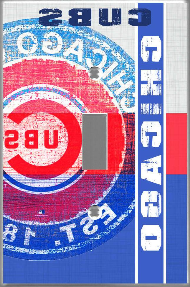 Chicago Cubs Toggle Single light switch cover wall decor fam
