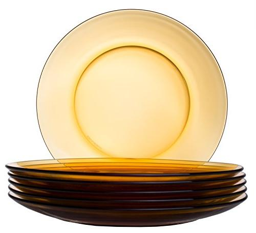 classic round glass dinner plate