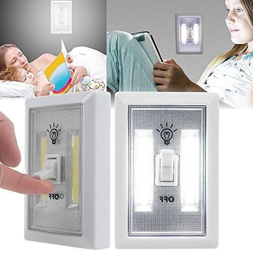Battery Switch 300 Lumen Light New Store Cabinet for Baby Bedrooms 4-Pack
