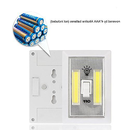 COB LED Night Battery Cordless Light Switch Light New Cabinet Lamp for Baby Nursery,