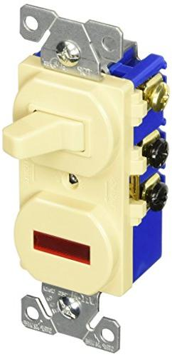 EATON 294V 15 Amp 120V Combination 3-Way Switch & Pilot Ligh