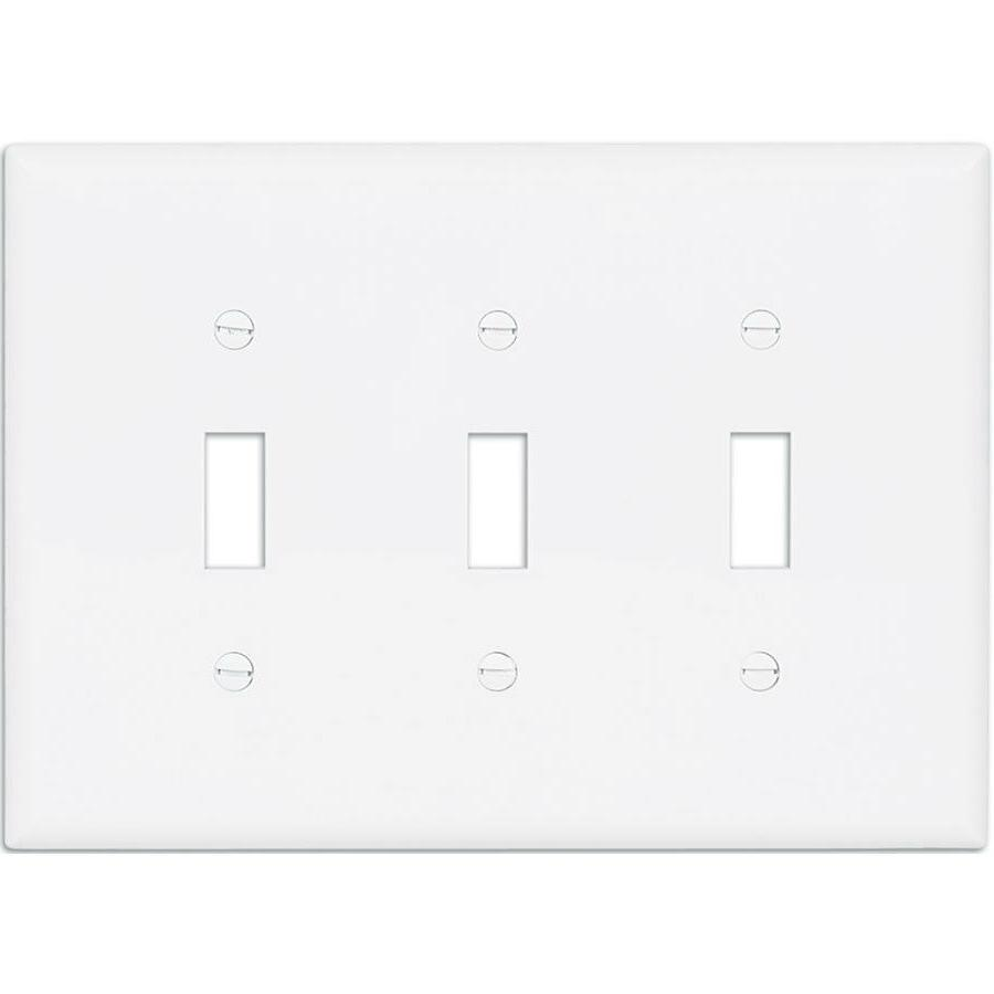 cooper 3 gang white triple toggle wall