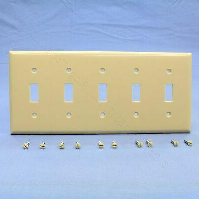 cooper ivory 5 gang toggle light switch