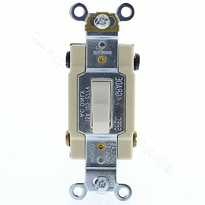 cooper lt almond 4 way commercial toggle