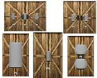 COUNTRY BARN DOORS HOME DECOR LIGHT SWITCH PLATE
