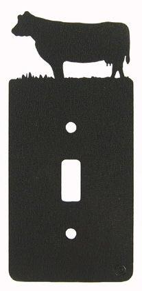 Cow Single Light Switch Plate Cover