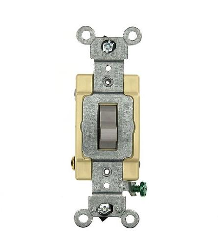 Leviton CSB4-20G 20 Amp 4-Way Toggle Switch Commercial - Gra