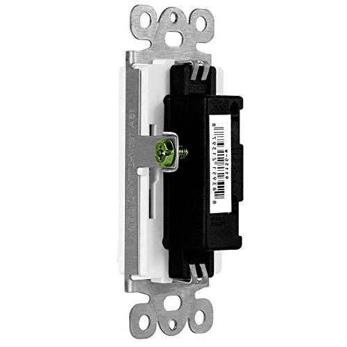ENERLITES Decorator Switch, 120V/277V, Single Pole, Wire, Screw, Residential Listed, 91150-W, White